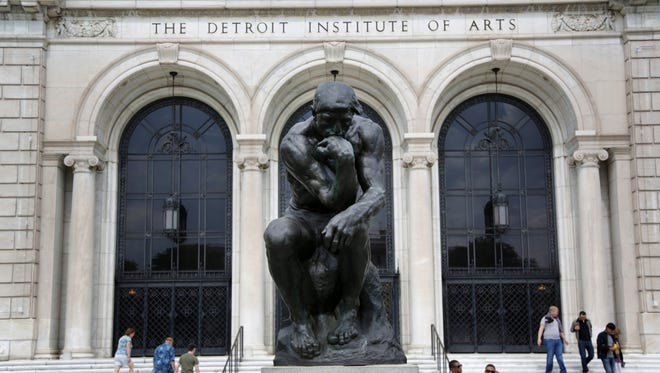 Front entrance of the Detroit Institute of Arts in Detroit.