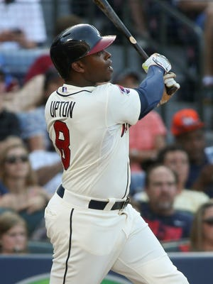 Justin Upton hit 29 home runs last season with the Braves.