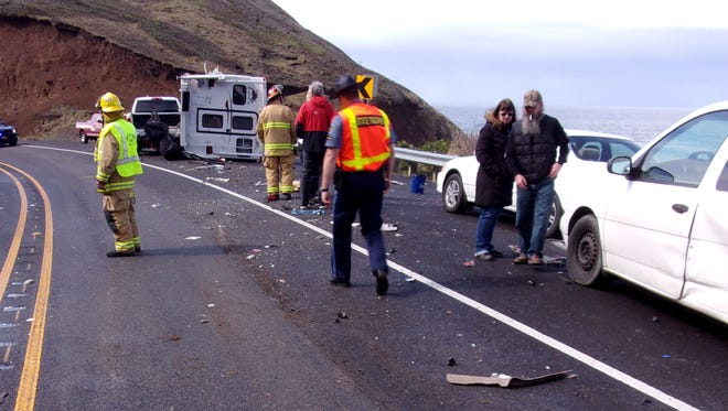 Oregon State Police investigated a fatal crash on Highway 101 south of Yachats on Sunday, March 19.