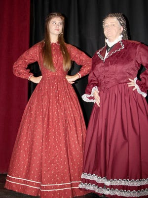 "Bethany Stutzman as Jo and Shirley Folmer as Aunt March in ""Little Women."""