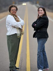 In 2013, Angela Merritt (left) and Stacey Hagg, stand