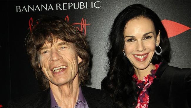 Mick Jagger and L 'Wren Scott