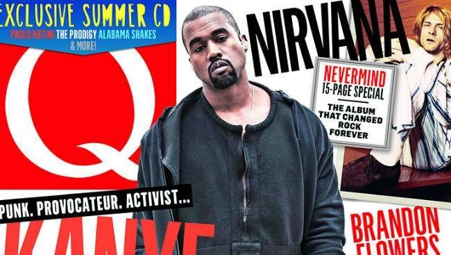 Kanye West on Q magazine.