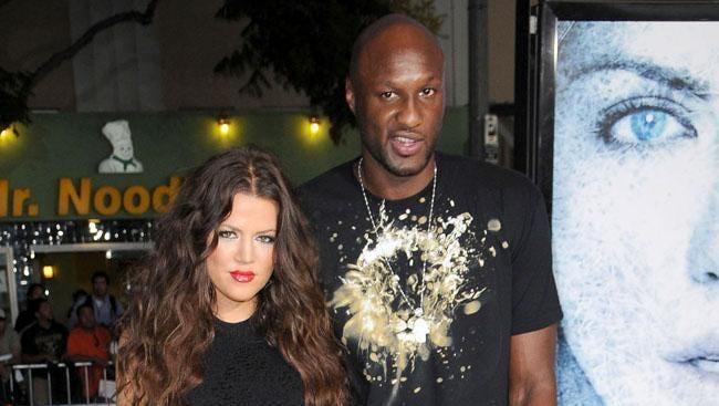 Khloé Kardashian and Lamar Odom in 2009