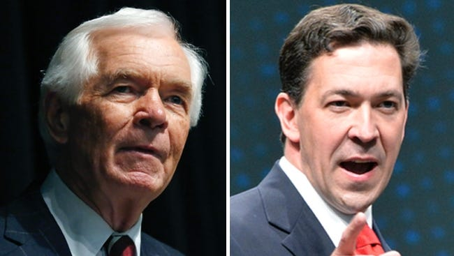 The race between U.S. Sen. Thad Cochran, left, and challenger Chris McDaniel is getting ugly.