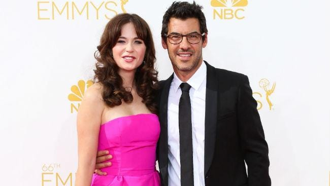 Zooey Deschanel and Jacob Perchenik