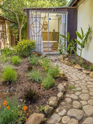 Drought-tolerant landscaping, including native plants,
