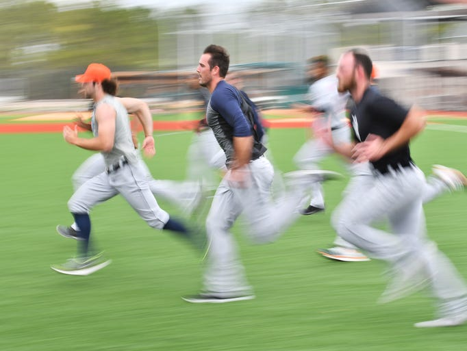From left, Tigers pitchers Daniel Norris, Drew VerHagen
