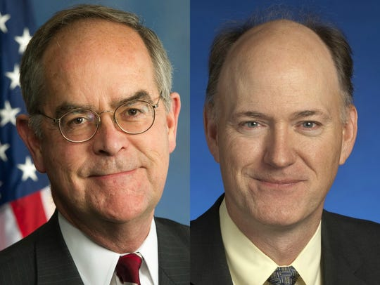 U.S. Rep. Jim Cooper, left, and state Sen. Steve Dickerson