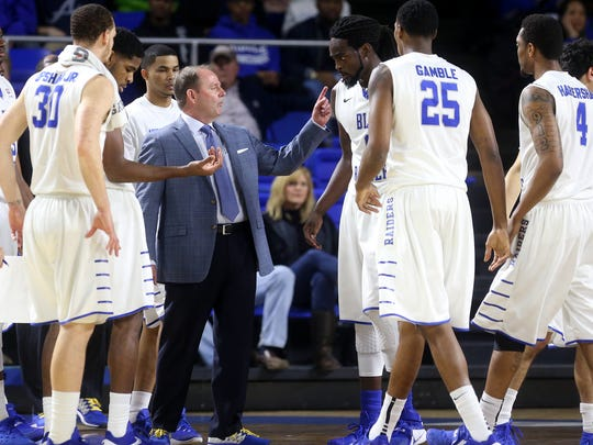 MTSU's head men's basketball Coach Kermit Davis talks