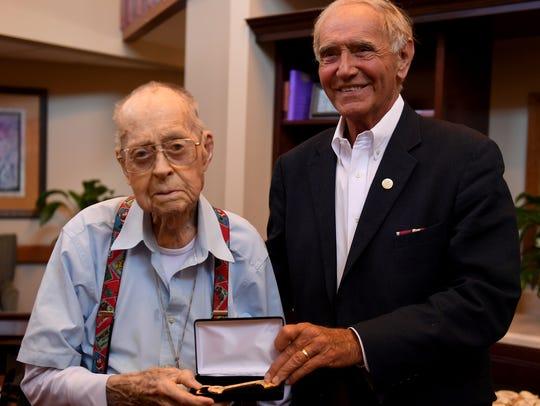 Jackson City Mayor Jerry Gist presented 103-year-old