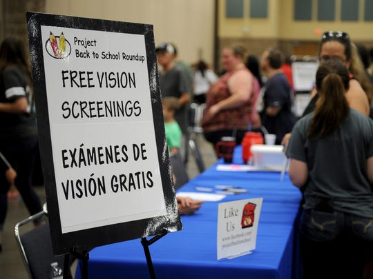 In addition to school supplies, exhibitors offered