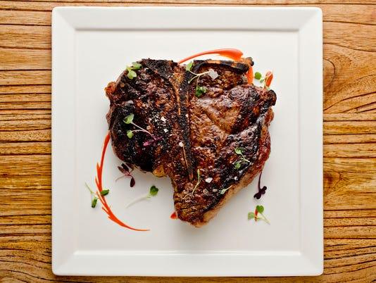 32 oz dry-aged Porterhouse steak at Bourbon Steak, Scottsdale Fairmont Princess