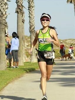 Kyung Lee of Thousand Oaks takes part in the Strawberry Fields Triathlon  in 2011. A horrific bike accident earlier this year isn't keeping her out of triathlons; she will compete in this weekend's Nautica Malibu Triathlon presented by Equinox.