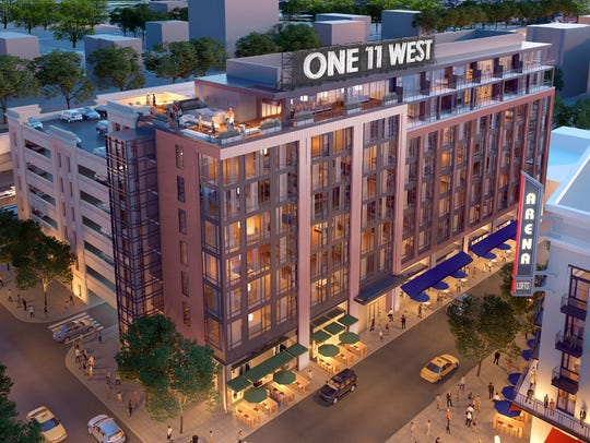 The One Eleven West building will offer 80 new residential