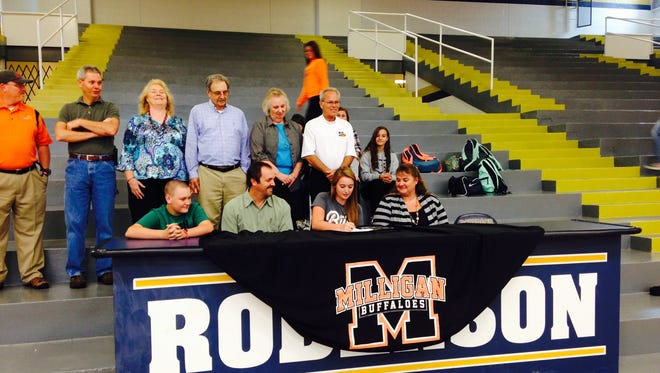 Roberson senior Kassi Butcher has signed to play college softball for Milligan (Tenn.).