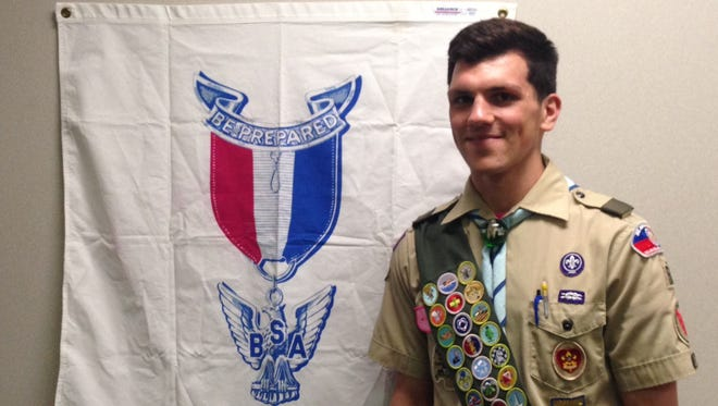 Adam Stephen Udovich, of Hockessin, became the 144th Eagle Scout from Troop 50 in Newark on May 6.