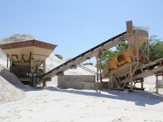 At Pattison Sand Co., seen here in 2011, fine-grained