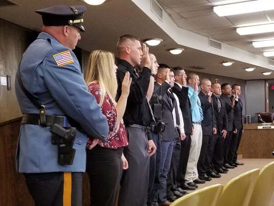 Millville July 2017 police recruits