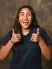 Harvest Christian Academy senior Jeli Velleza, 17, poses for a photo at the Pacific Daily News studio in Hagatna on Monday, Aug. 31.