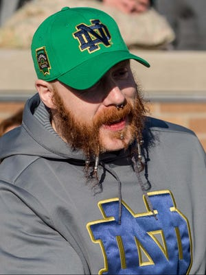 WWE wrestler Sheamus is supporting Notre Dame from Germany