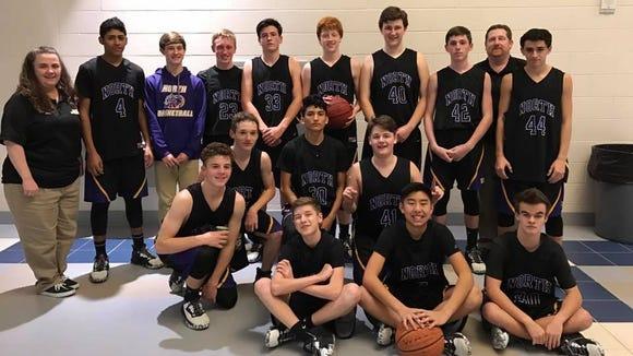 The North Henderson JV boys basketball team.