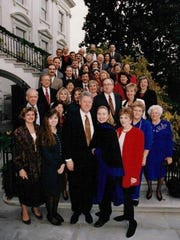 Keith and Steven Rockcastle were among the florists who decorated the White House for the 1995 holiday season.