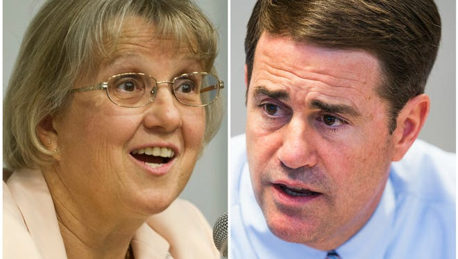 Education Superintendent Diane Douglas has picked a fight with Gov. Doug Ducey. And it's much more than a petty political spat.