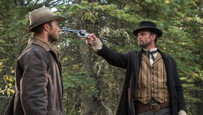 Scott Eastwood runs afoul of Walton Goggins in the Western action movie 'Diablo.'