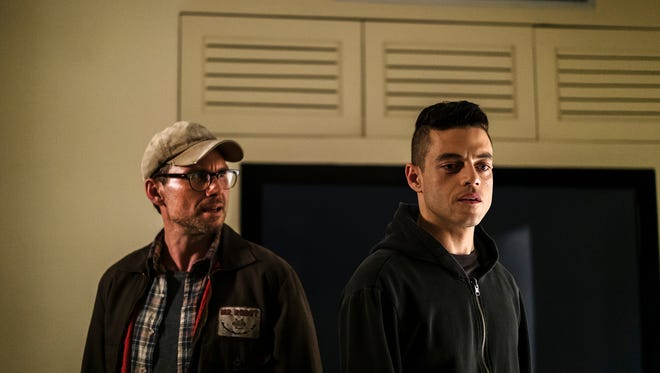 Christian Slater, left, and Rami Malek star in USA's 'Mr. Robot,' which will end after its fourth season, due to premiere in 2019.