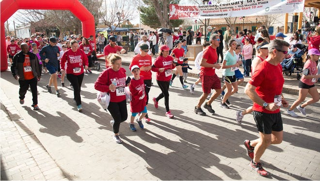 The 9th annual Community Options, Inc. Cupid's Chase 5K begins at 9 a.m. on thehistoric Mesilla Plaza on Saturday, Feb. 10.