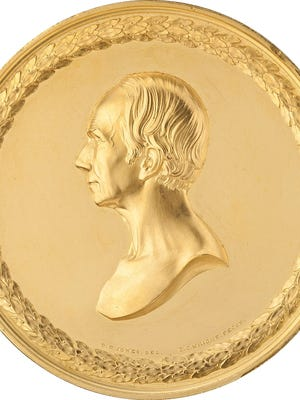 A minimum bid of $75,000 has bee set for a one-of-a-kind gold medal presented to KY statesman Henry Clay at a Dallas auction Sept. 17.