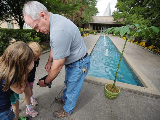 Kyle McLane, the Memphis Botanic Garden's assistant