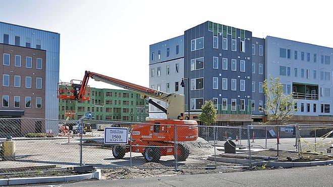 A multi unit development on Trotter Road near Main Street in Weymouth. Greg Derr/ The Patriot Ledger