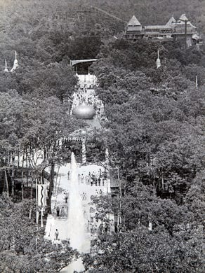Undated: A view down Dream Street at Great Adventure