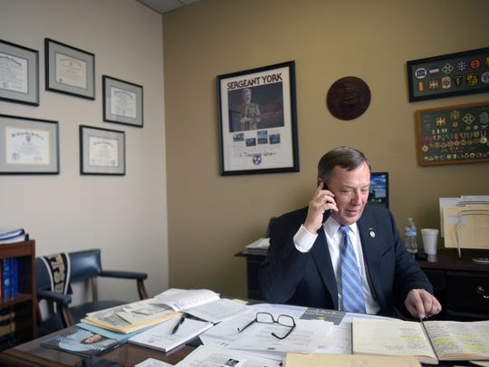 State Rep. Sam Whitson makes phone calls about his