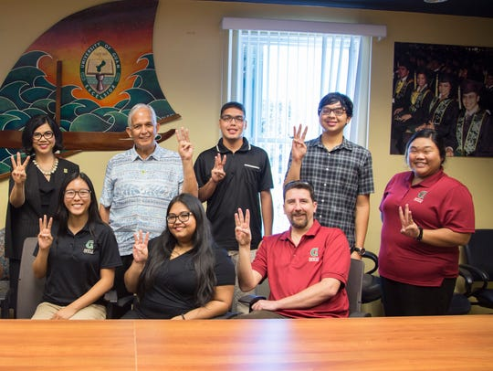 Incoming University of Guam Student Government Association