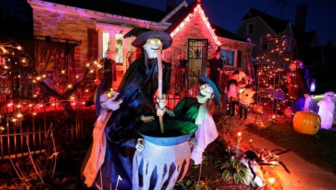 A Halloween display in the 2700 block of N. 9th Street on Halloween Monday October 31, 2016 in Sheboygan.