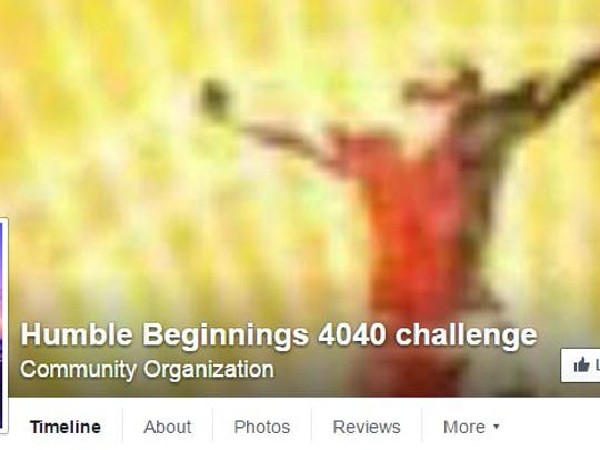 The 4040 Challenge is being organized by Toloy's community organization Humble Beginnings, which has a Facebook page.