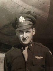 """Vernon """"Bo"""" Sigo during World War II. He flew a B-17"""