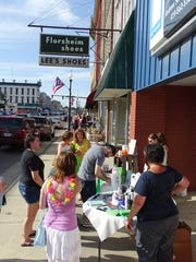 The streets of downtown Bucyrus were filled during