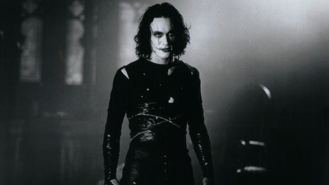 "Brandon Lee as Eric Draven from a scene in ""The Crow."""