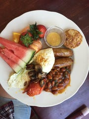 An English style breakfast from Daughters Cafe, a quaint breakfast and lunch restaurant at 97 Bell St. in Reno.