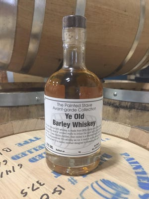 """Painted Stave Distilling recently released its """"Ye Old Barley Whiskey"""" — the first Delaware whiskey stilled in 100 years, according to owners."""