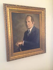 This is a portrait of George Hearn, Gloria's late husband, who bought the Myrtlewood estate with Gloria in 1991.
