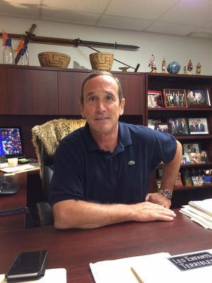 Lobbbyist and political consultant Kevin DeMenna in his office on Aug. 6, 2015. DeMenna is president of DeMenna & Associates.
