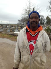 Richard Sanders, a starting forward for Pineville's state championship basketball team in 1990, has a part-time job at Alexandria's Garden of Memories cemetery.