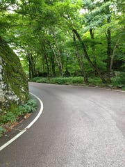The road up Smugglers' Notch.