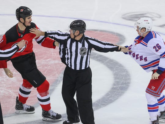 Apr 3, 2018; Newark, NJ, USA; New Jersey Devils center