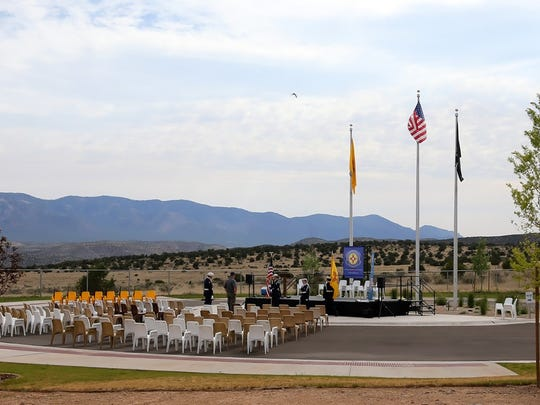 A small crowd attended the Memorial Day ceremony at